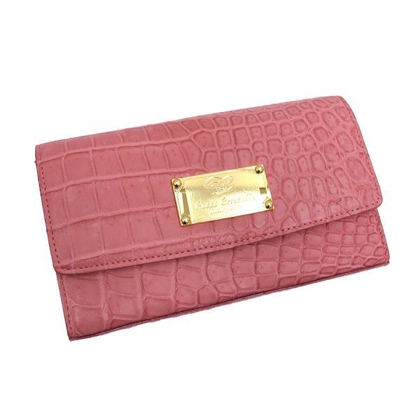 【送料無料】【中古】高級皮革系 コッコクリスターロ・クロコファスナー財布 【Aランク】