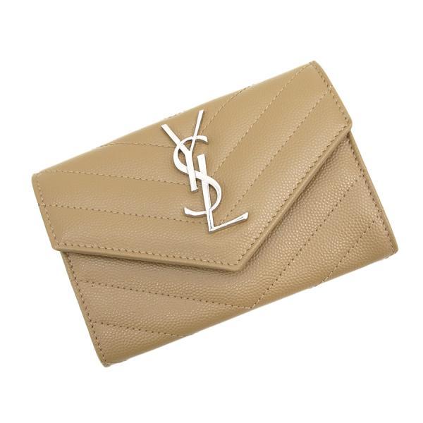 【送料無料】【中古】サンローラン・パリ エンベロープ2つ折財布 【Sランク】