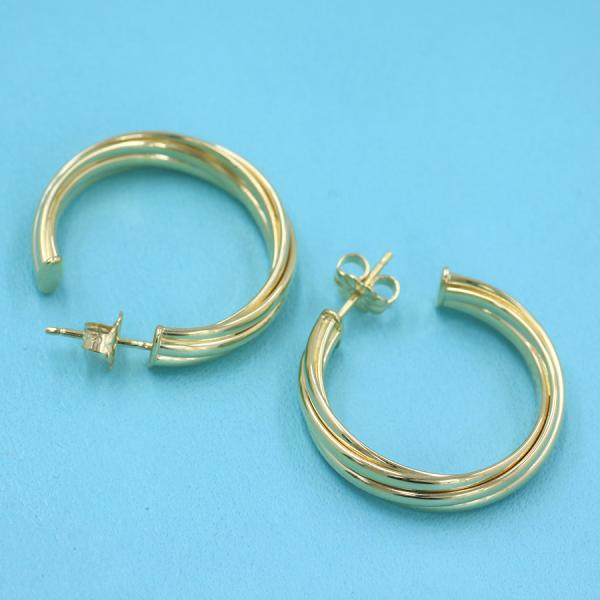 Tiffany Melody Hoop Pierced Earrings Small