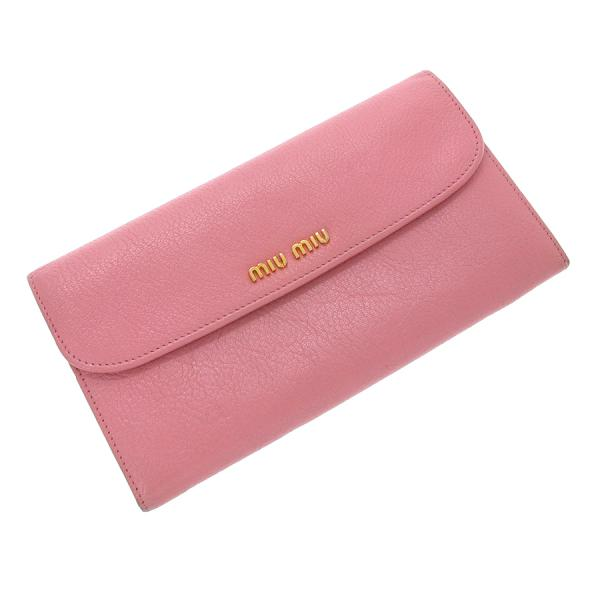 【送料無料】【中古】ミュウミュウ 長財布 【Bランク】