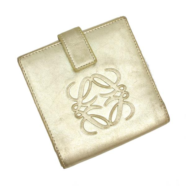 【送料無料】【中古】ロエベ 二つ折り財布 【Bランク】