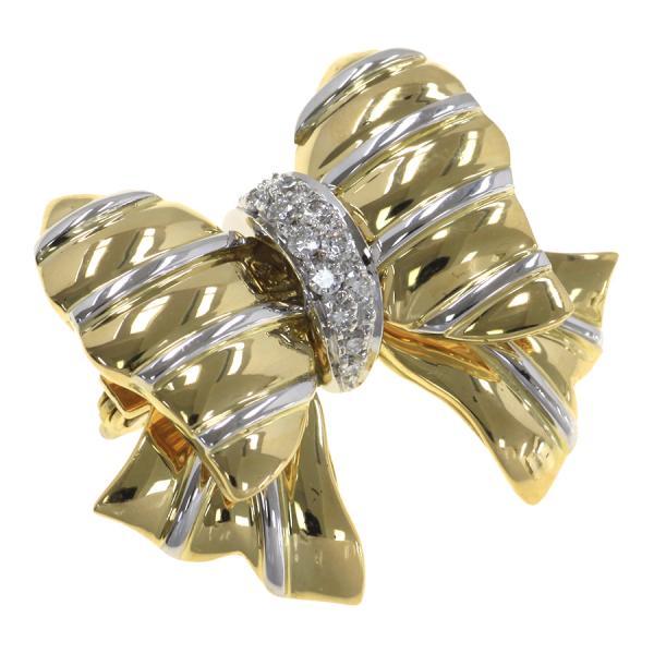 【中古】レポシ ダイヤブローチ/ボウコレクション 【無料ギフトラッピング】【Aランク】