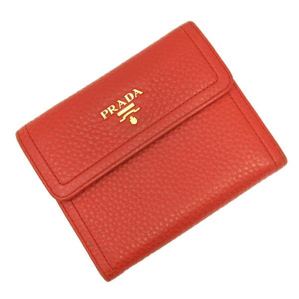 【送料無料】【中古】プラダ 3つ折財布 【Bランク】