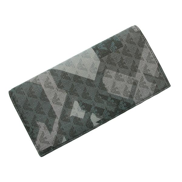【送料無料】【中古】E.アルマーニ 2つ折長財布 【Sランク】