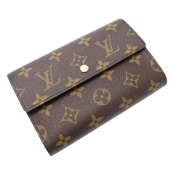 【送料無料】【中古】ルイヴィトン モノグラム カード用ポケット付財布/脱着証明書ケース付 M61202【Bランク】
