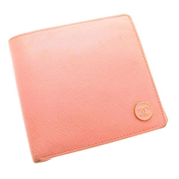 【送料無料】【中古】シャネル 2つ折り財布 【Bランク】