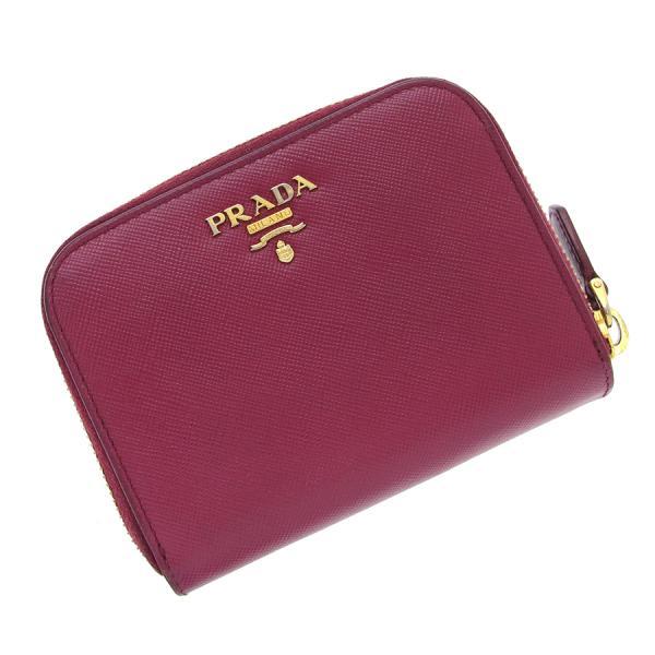 【送料無料】【中古】プラダ 2つ折ラウンドファスナー財布 【Bランク】