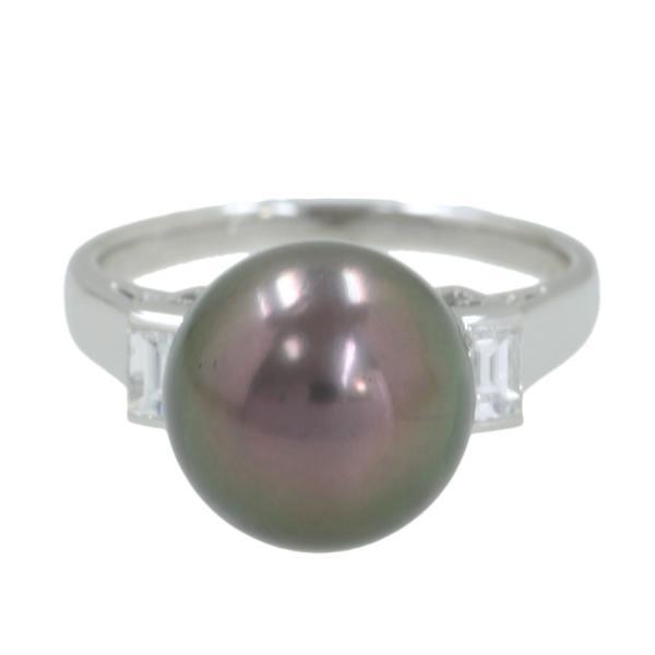 【送料無料】【中古】ミキモト クロチョウパールダイヤリング#13 【無料ギフトラッピング】【Aランク】