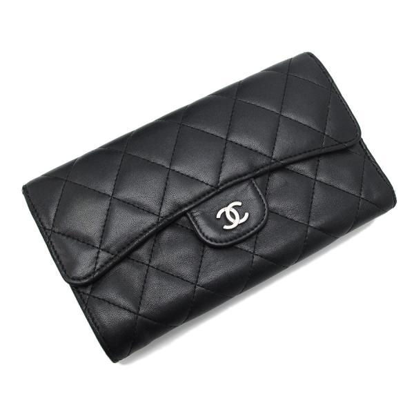 【送料無料】【中古】シャネル 三つ折財布 【Bランク】