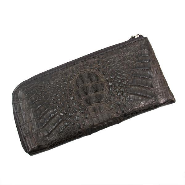 【送料無料】【中古】高級皮革系 背ワニ・長財布 【Bランク】