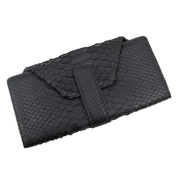 【送料無料】【中古】高級皮革系 ヘビ革・長財布 【Aランク】