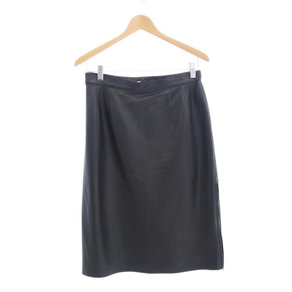 【送料無料】【中古】ジュンアシダ レザースカート 【Bランク】