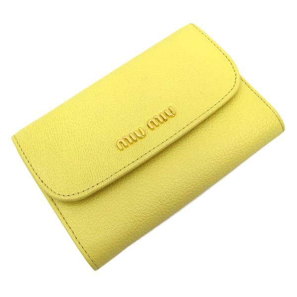 【送料無料】【中古】ミュウミュウ コンパクト財布 【Sランク】