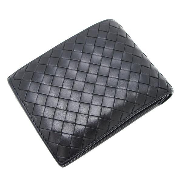 【送料無料】【中古】ボッテガヴェネタ 二つ折り財布 180265【Bランク】