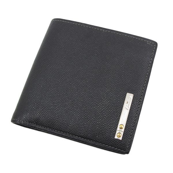 【送料無料】【中古】カルティエ サントス2つ折財布 【Bランク】