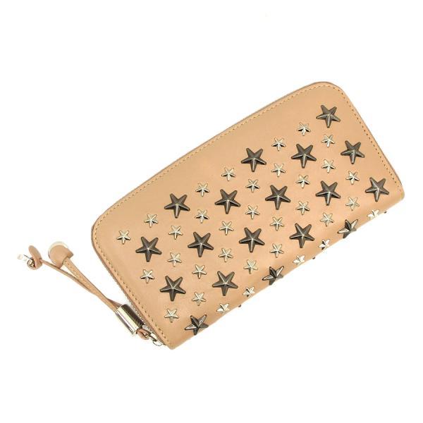 【送料無料】【中古】ジミーチュウ FILIPA LEATHER BALLETラウンドファスナー財布 【Aランク】