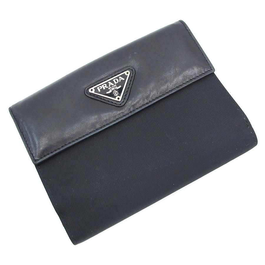 【送料無料】【中古】プラダ 二つ折財布【Bランク】