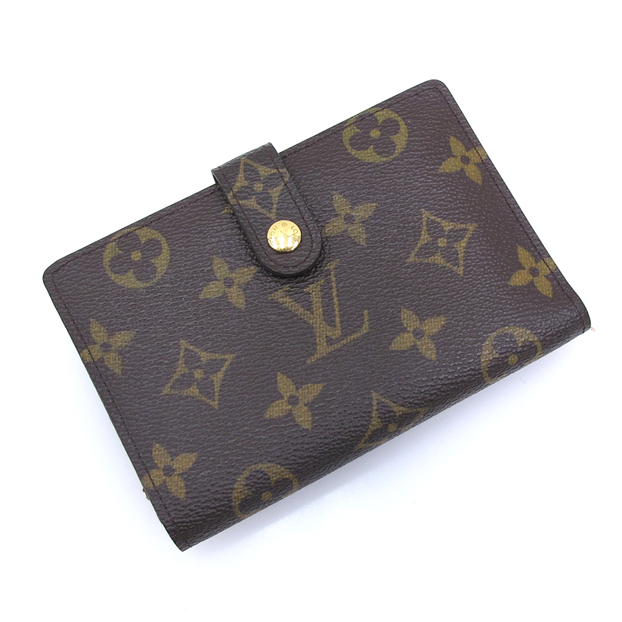 【送料無料】【中古】ルイヴィトン モノグラム カード用ポケット付財布 M61674/1417【Bランク】
