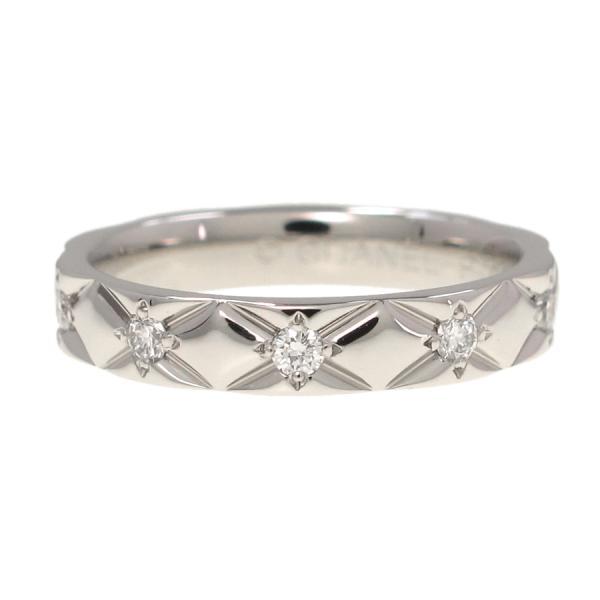 Chanel matelasse ring / diamond 10P#51 (the Japanese size 10 5 neighborhood)