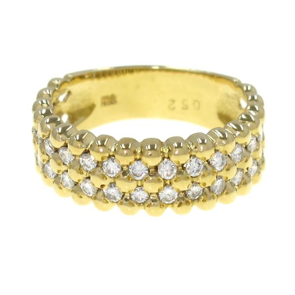 K18ダイヤリング#10 【無料ギフトラッピング】【Aランク】【中古】