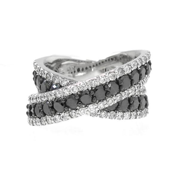 ポンテヴェキオ ブラックダイヤリング#11.5 【無料ギフトラッピング】【Aランク】【中古】