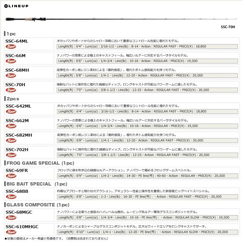 主流的选秀(MajorCraft)公共汽车速度·样式SSC-68BB
