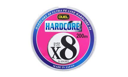 デュエル モデル着用 注目アイテム DUEL H3265 HARDCORE 値引き X8 10mx5色 2.0号 マーキングシステム 200m