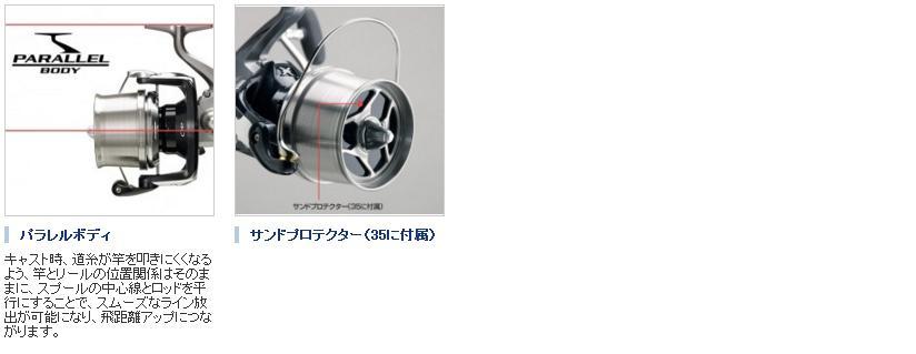 (SHIMANO) Shimano spinning reel 13 Isuzu surf leader CI 4 + 35 [SUPER AERO SURF LEADER CI 4 +] 30 standard specifications