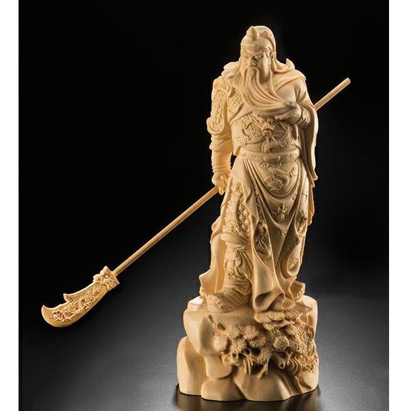 黄楊一杢彫り 関羽像