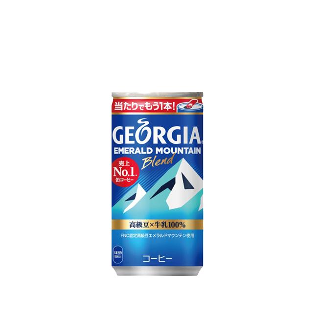 バランスの取れた味わいを維持しながらコーヒー感を強化 宅配便送料無料 ジョージア エメラルドマウンテンブレンド 缶 コーヒー メーカー直送 完全送料無料 全国送料無料 185g 60本入り 2ケース