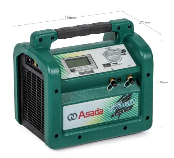 アサダ フロン回収装置 エコセーバー隼 -HAYABUSA- ES8823 特定不活性ガスの回収可能! ★品薄状態につき、お時間が掛かる場合があります