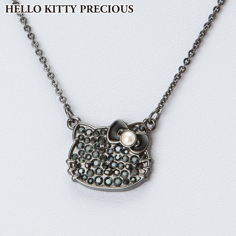 ハローキティ スワロフスキー(R)・クリスタルペンダント ブラック(HELLO KITTY PRECIOUS)