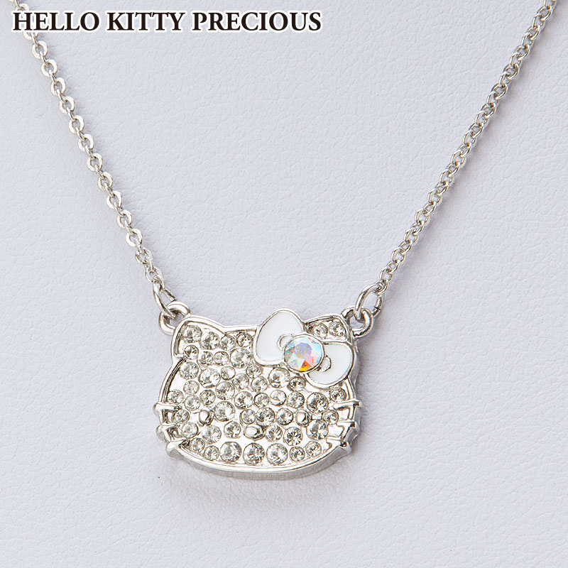 ハローキティ スワロフスキー(R)・クリスタルペンダント ホワイト(HELLO KITTY PRECIOUS)