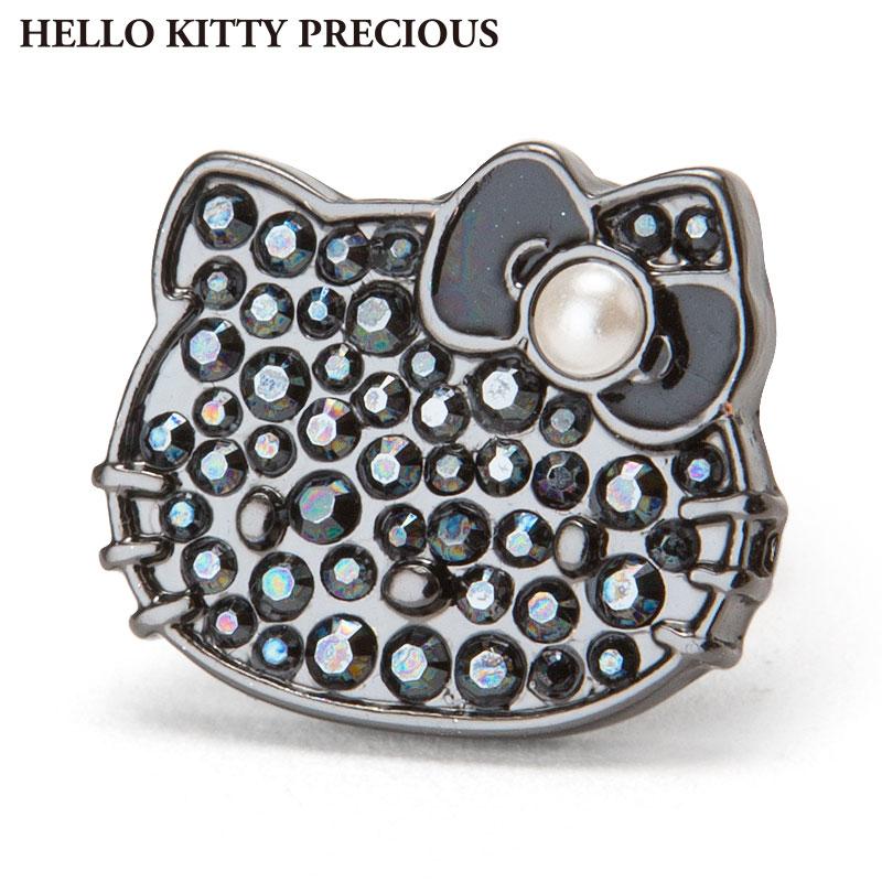 ハローキティ スワロフスキー(R)・クリスタルブローチ ブラック(HELLO KITTY PRECIOUS)