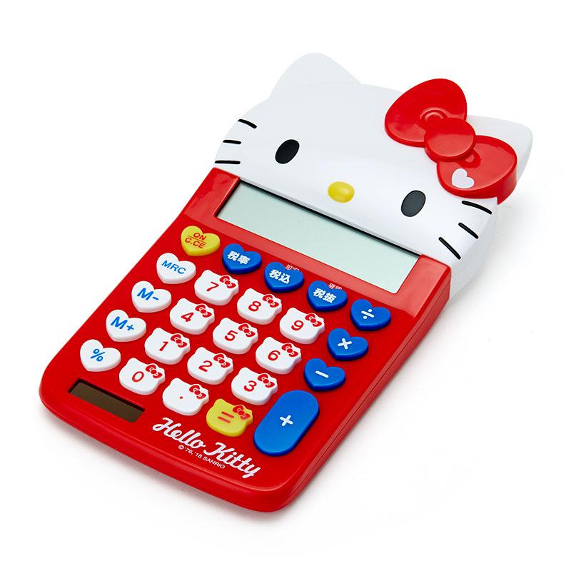 ハローキティ フェイス形キー電卓