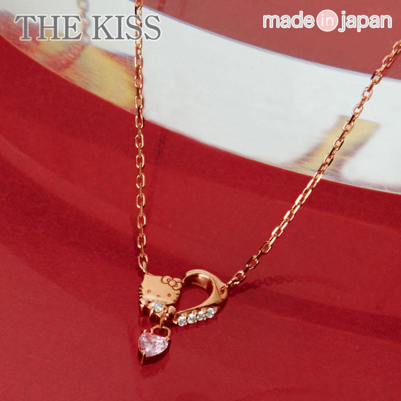 ハローキティ×THE KISS ネックレス(ピンクハート)