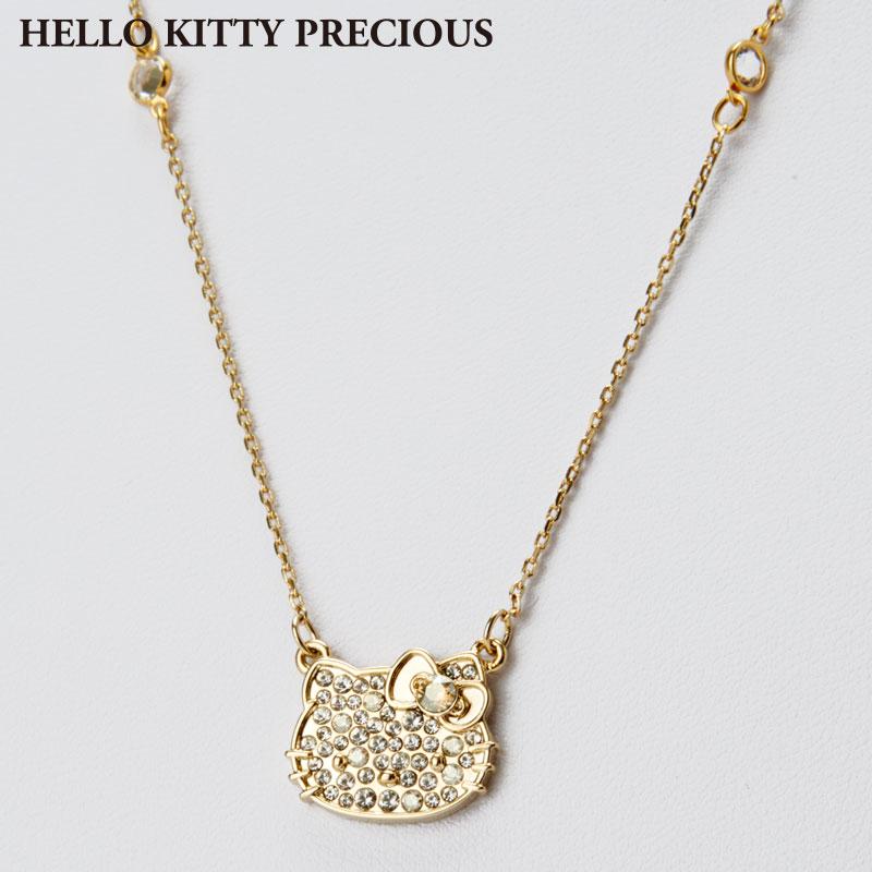 ハローキティ スワロフスキー(R)・クリスタルペンダント シャンパンゴールド(HELLO KITTY PRECIOUS)