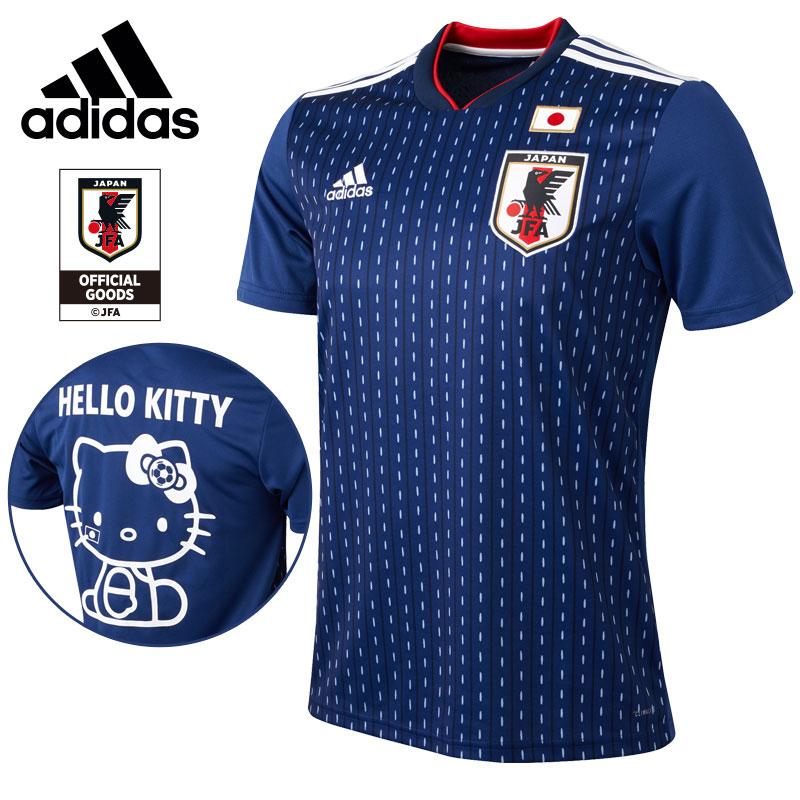 ハローキティ adidas BLUE) サッカー日本代表ホームレプリカユニフォーム半袖(SAMURAI ハローキティ BLUE), 下総町:cbd20022 --- sunward.msk.ru