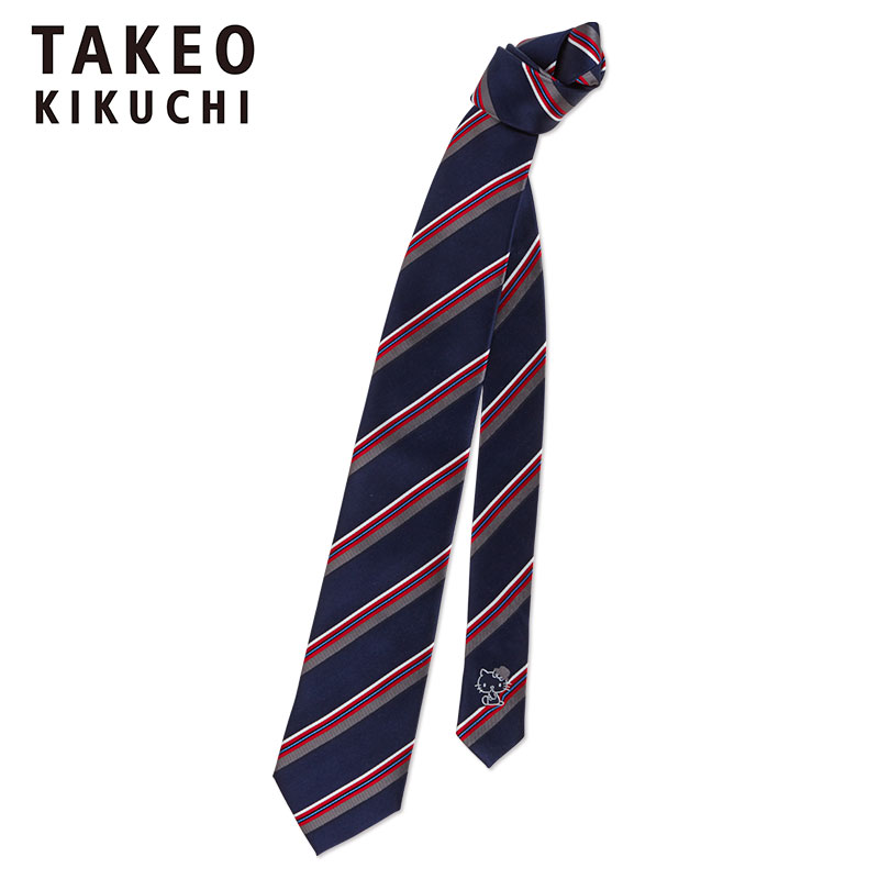 ハローキティ TAKEO KIKUCHI ネクタイ(BOILER KITTY)
