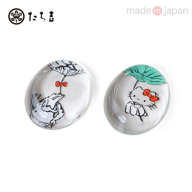 ハローキティ 高品質新品 おしゃれ たち吉 蓮の傘 鳥獣戯画箸置セット