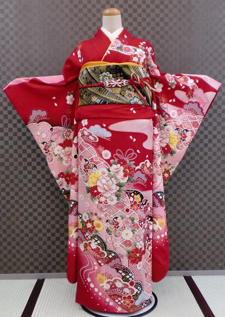 振袖 ふりそで 振袖レンタル 着物 フルセット 送料無料 結婚式 成人式 着物レンタル L-5071