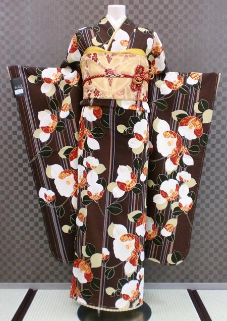 振袖 ふりそで 振袖レンタル 着物 フルセット 送料無料 結婚式 成人式 着物レンタル レトロ 千鳥格子 L-5087