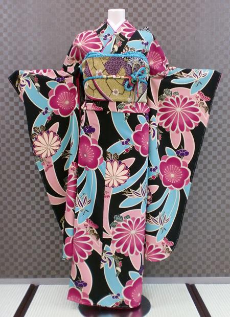 振袖 ふりそで 振袖レンタル 着物 フルセット 送料無料 結婚式 成人式 着物レンタル 【岡重】 レトロ L-5089