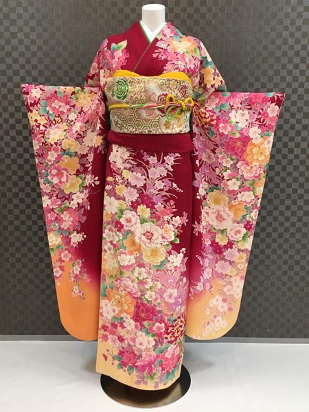 振袖 ふりそで 振袖レンタル 着物 フルセット 送料無料 結婚式 成人式 着物レンタル L-5059