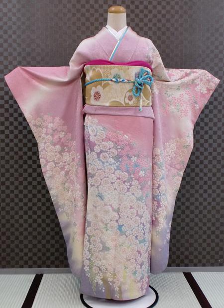 振袖 ふりそで 振袖レンタル 着物 フルセット 送料無料 結婚式 成人式 着物レンタル L-5008