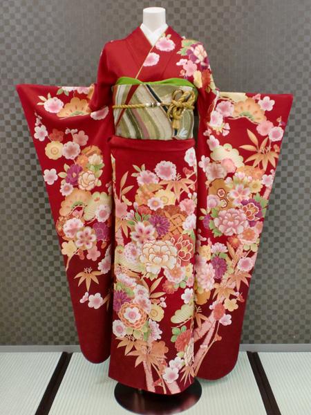 振袖 ふりそで 振袖レンタル 着物 フルセット 送料無料 結婚式 成人式 着物レンタル  古典柄 L-5045