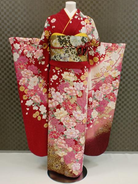 振袖 ふりそで 振袖レンタル 着物 フルセット 送料無料 結婚式 成人式 着物レンタル L-5010