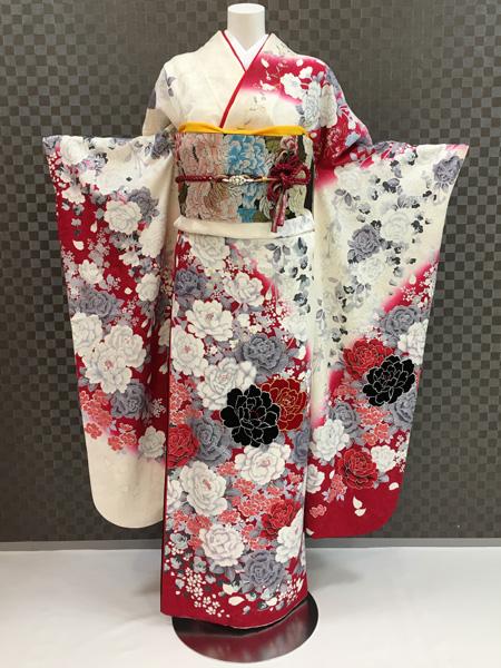 振袖 ふりそで 振袖レンタル 着物 フルセット 送料無料 結婚式 成人式 桂由美 着物レンタル L-5027