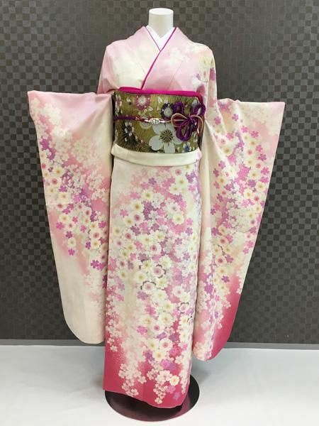 振袖 ふりそで 振袖レンタル 着物 フルセット 送料無料 結婚式 成人式 着物レンタル L-5016
