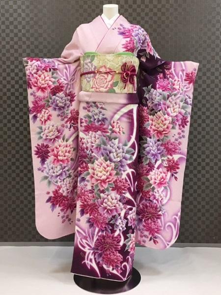 振袖 ふりそで 振袖レンタル 着物 フルセット 送料無料 結婚式 成人式 着物レンタル L-5050